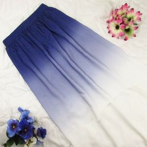 Mossimo Ombre Skirt High Low Hem NWOT